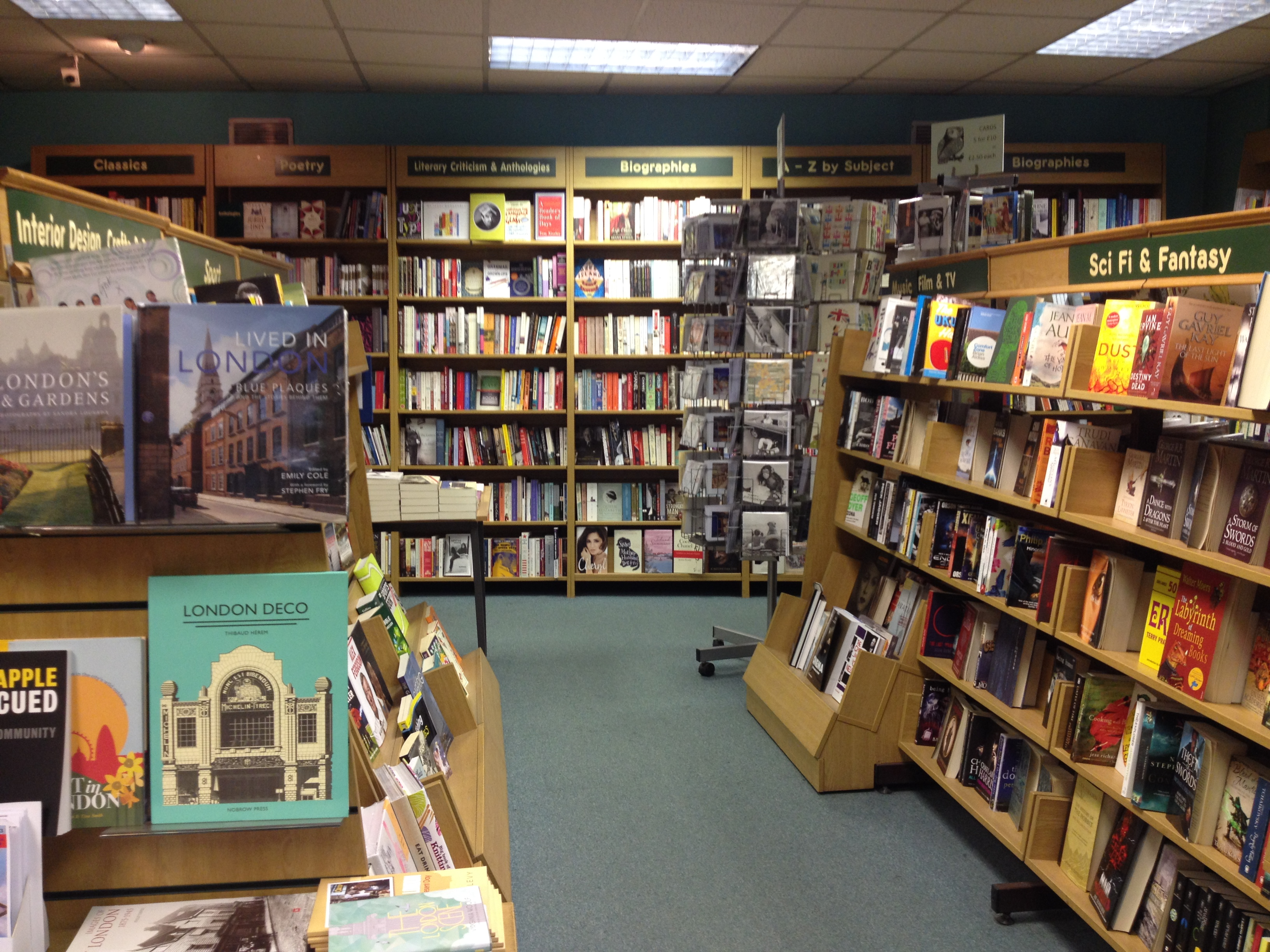 bookshop owl london displays easy books orderly sections wonderfully thought clear well very